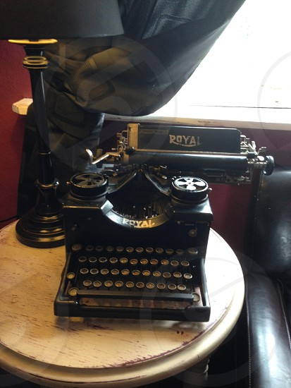 Typewriter write words music old antique photo