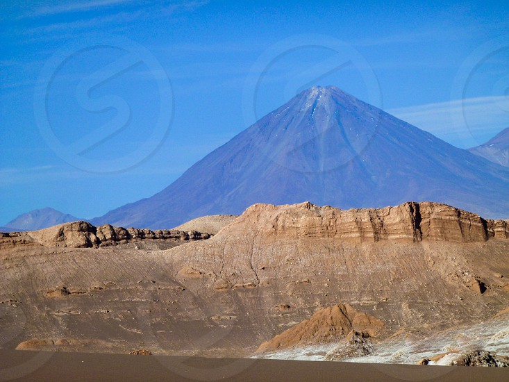 a view of a volcano photo