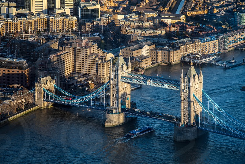 View of Tower Bridge from the Shard in London photo