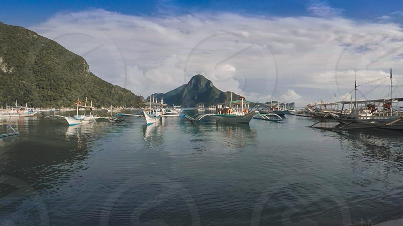This is a photo of El Nido bay in Palawan Philippines. photo