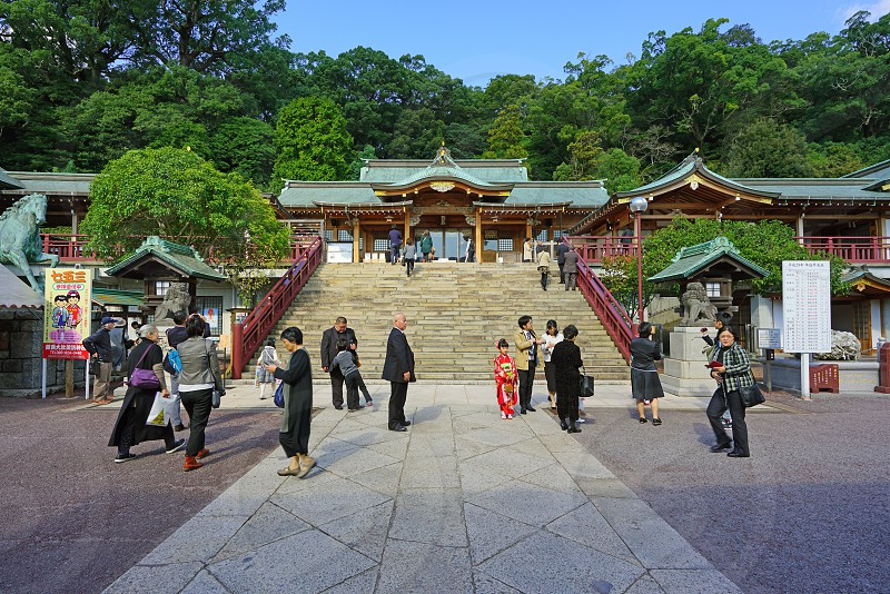 The Suwa Shrine in Nagasaki photo