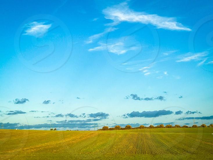 Sweden seasonal flat landscape  skåne field  harvest plants countryside  photo