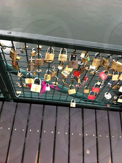 Padlocks on the bridge  photo