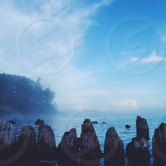 Foggy evening on Lake Superior photo