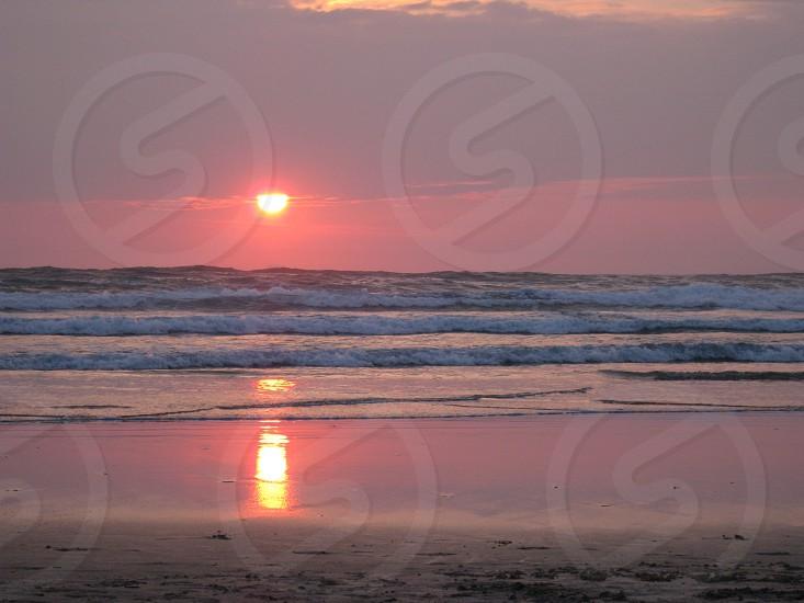 Cornwall Beach Sunset photo