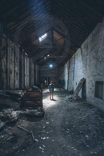 abandoned warehouse in Porto Portugal photo