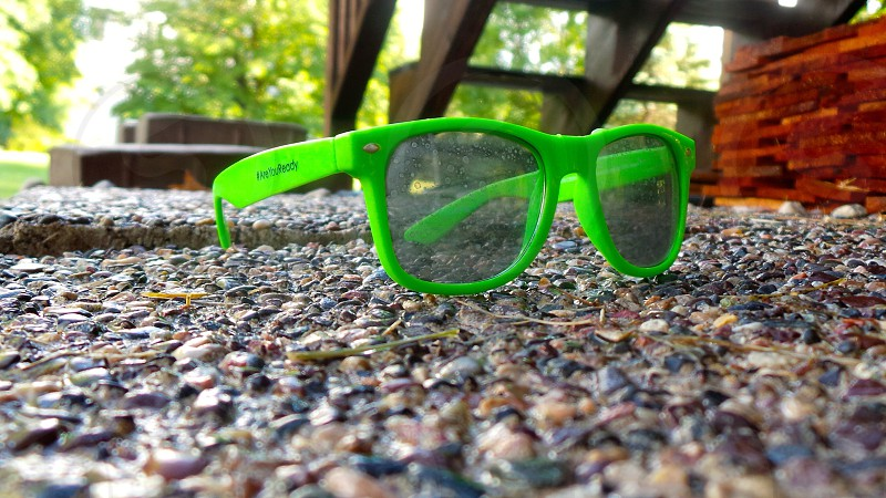 These are some shades that were won at the Minnesota State Fair. Love the bright green! photo