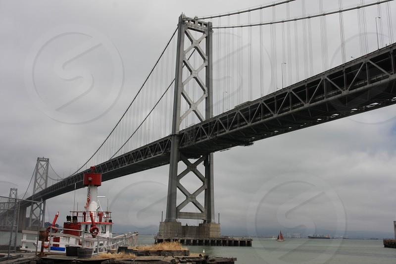 San Francisco Bay Bridge Tug boat photo