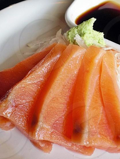 Food sashimi fish japanese food. photo