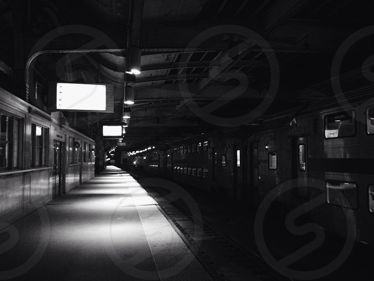train station in grayscale photo photo