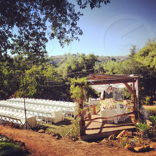 Beautiful outdoor wedding in Escondido CA photo