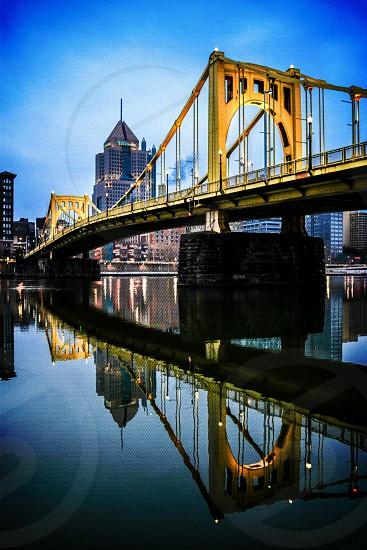 yellow metal bridge photo