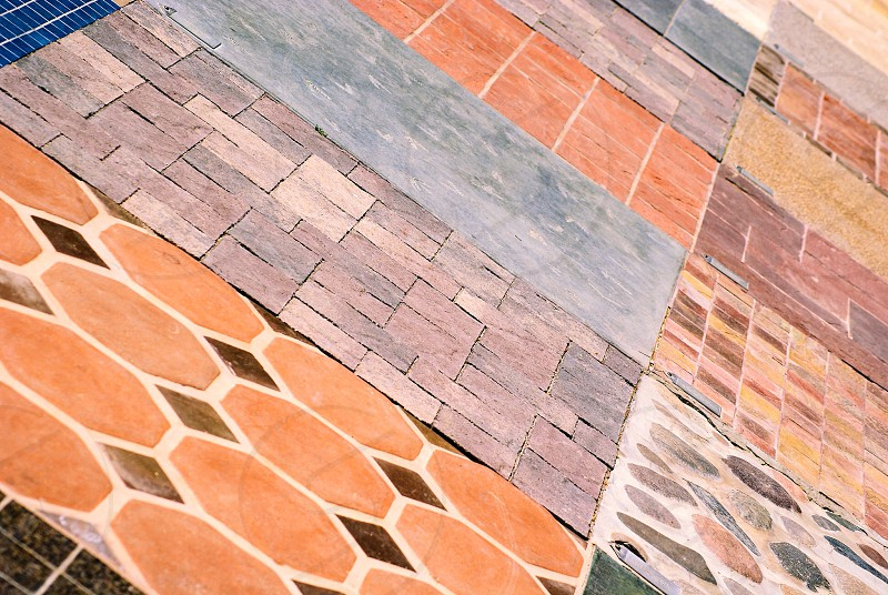 Geometric shapes in a garden walkway at the Springs Preserve in Las Vegas photo