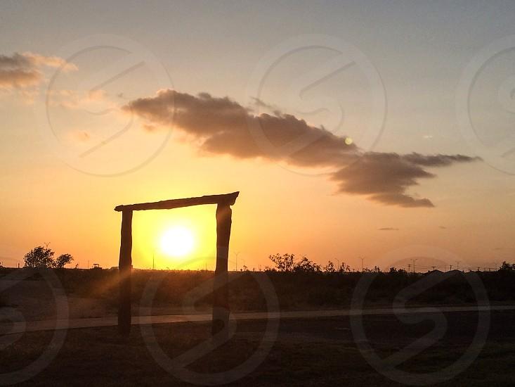 Sunset in Midland TX photo
