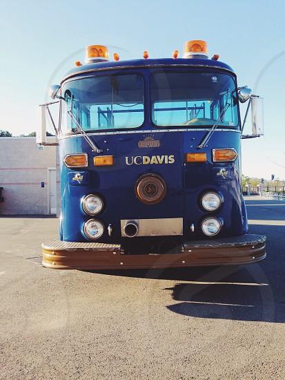 uc davis blue firetruck photo