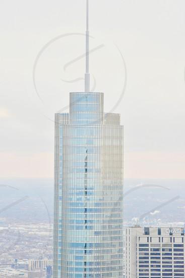 grey glass paneled high rise building photo
