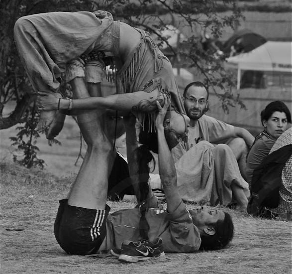 acrobatics balance flexible flexibility acrobats strength photo