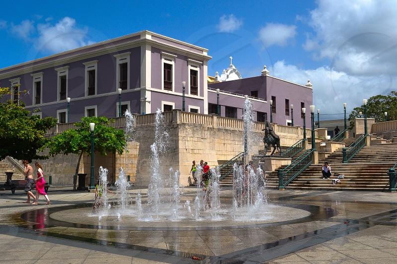 Quincentennial Plaza Old San Juan. Puerto Rico photo