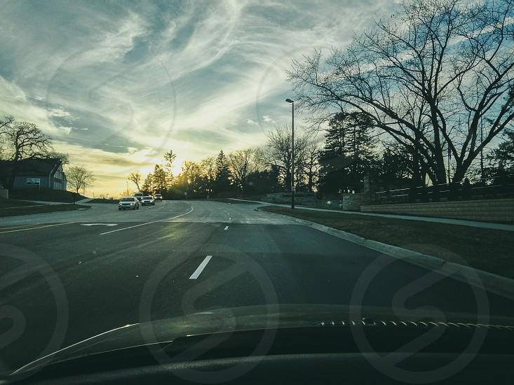 gray pavement road photo