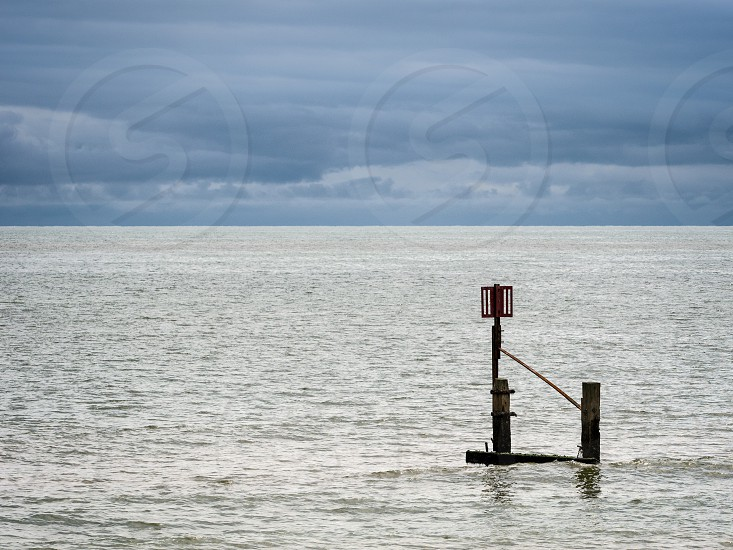 Hazard and Depth of Tide Indicator at southwold photo