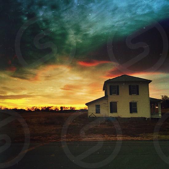 house green sky photo photo