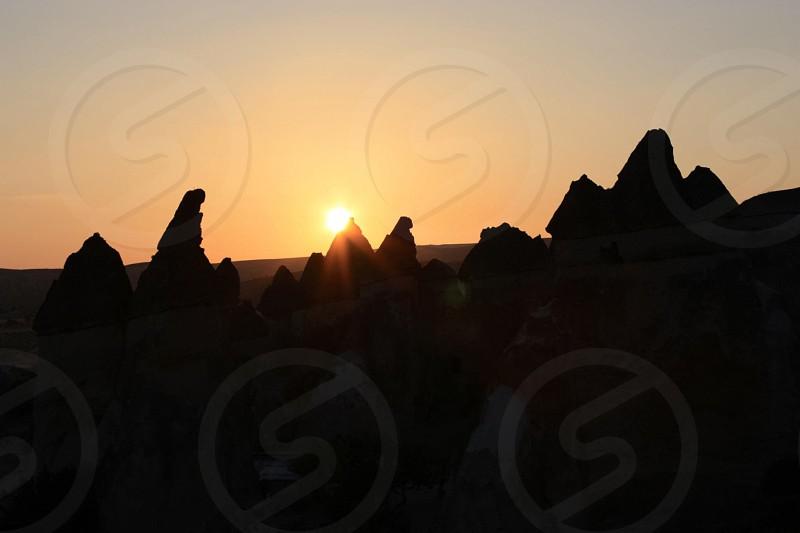 Sunrise in Cappadocia Turkey photo