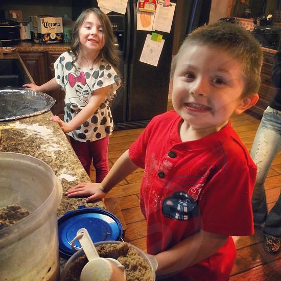 Helping mom make cookies!  photo