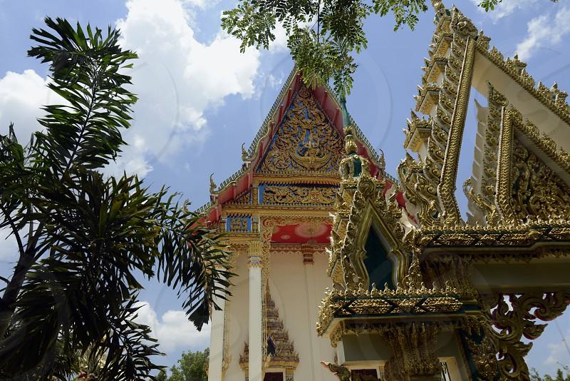 Der Tempel Wat Pak Saeng bei Lakhon Pheng am Mekong River in der Provinz Amnat Charoen nordwestlich von Ubon Ratchathani im nordosten von Thailand in Suedostasien. photo