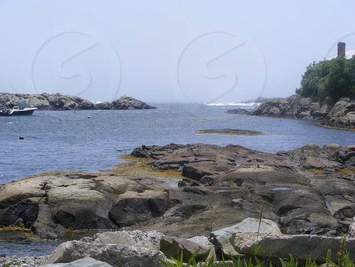 view of rocky shore photo