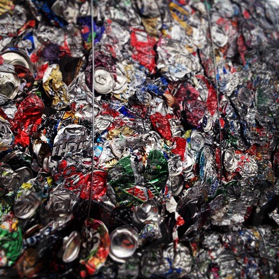 Recycled aluminum cans  photo