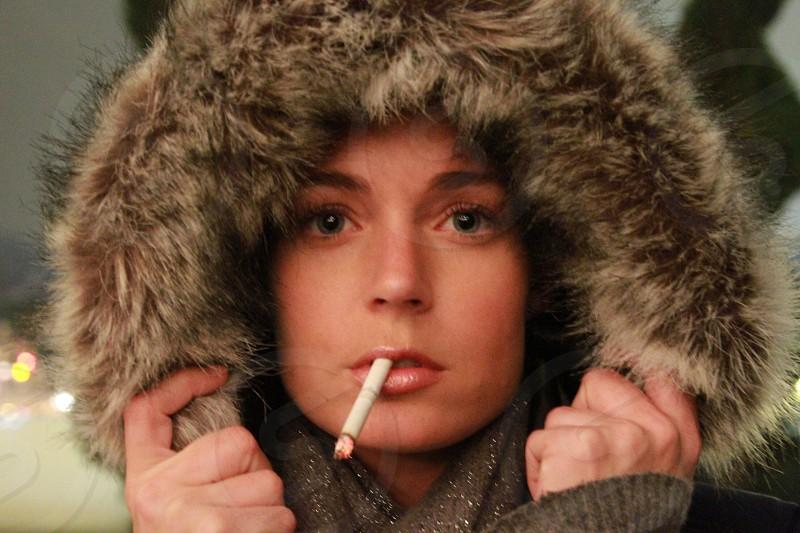 Cigarette portrait face photo