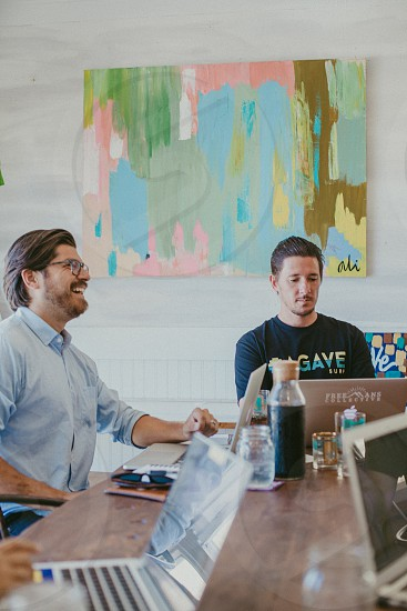 A meeting among a group of entrepreneurs  photo