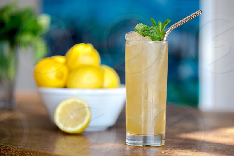 glass of lemonade photo