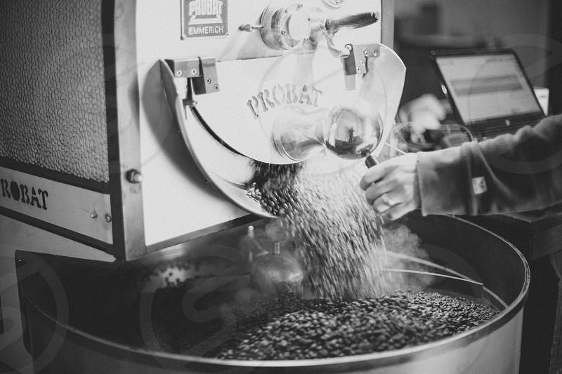 Coffee roasting  photo