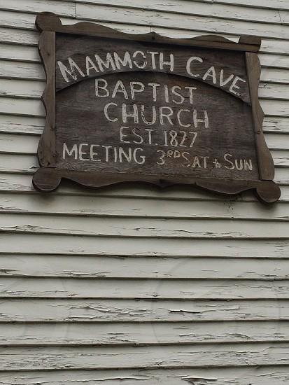 Mammoth cave; church; haunted; creepy; history  photo