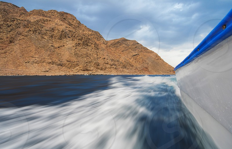 Moving on sea near Dahab city Egypt photo