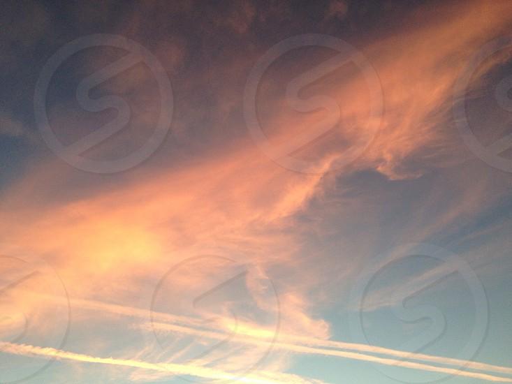 Red pinkish sky photo