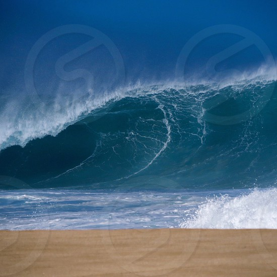 Ocean waves Hawaii Rawpower hollow beach pipeline  photo