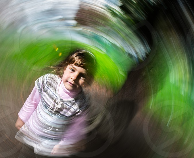 """Taking Ella for a """"spin"""" photo"""