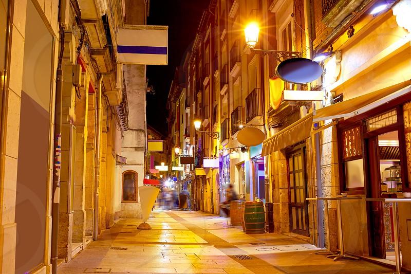Burgos city at sunset in Castilla Leon of Spain photo