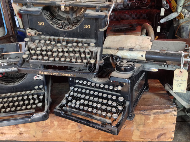antique typewriters photo