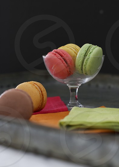 Colorful macarons photo