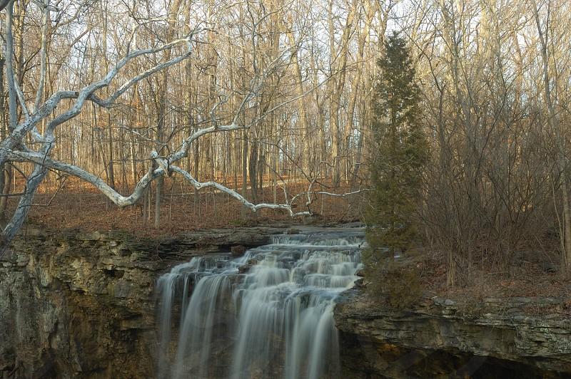 Waterfall nature trees photo