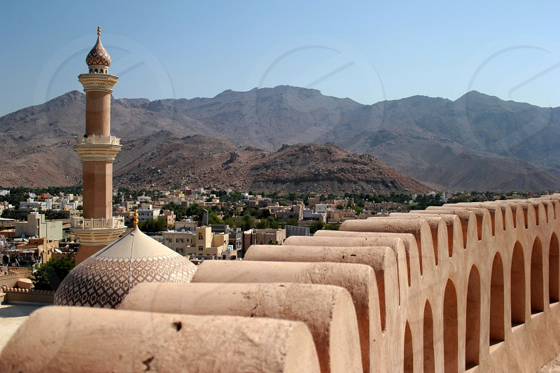 Middle East Oman Nizwa mosque city center photo