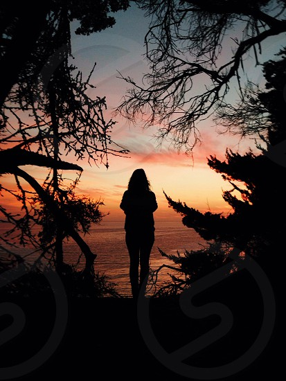 woman standing silhouette photo