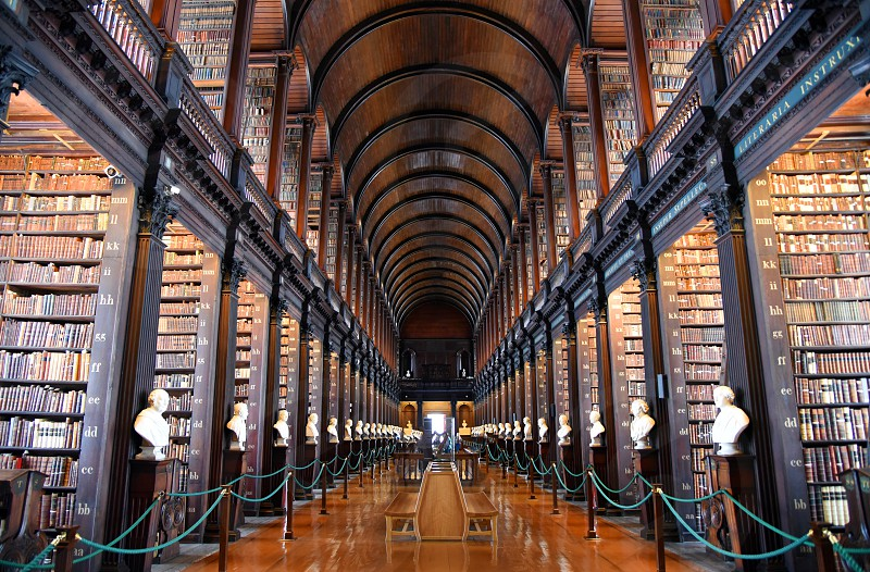 Dublin Ireland - May 30 2017: The Long Room in the Old Library at Trinity College Dublin. photo