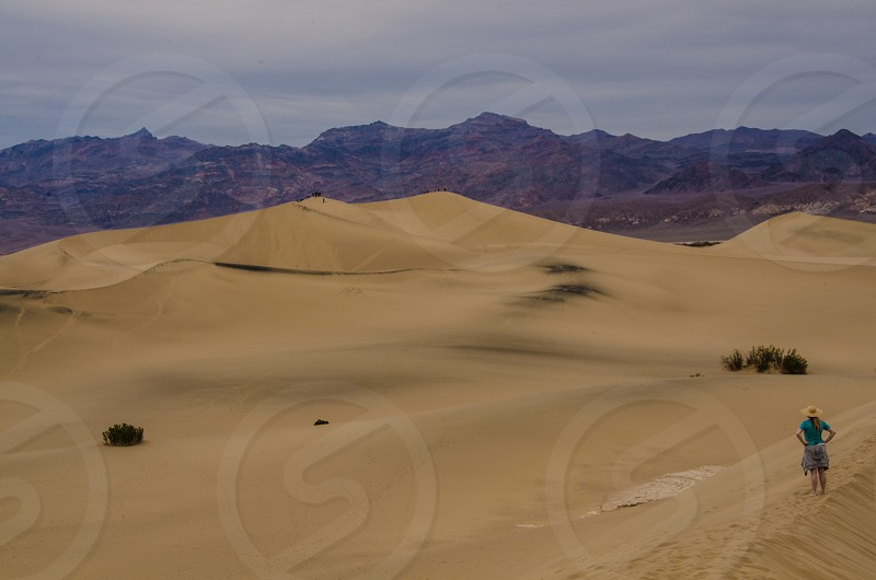 Sand dunes in Death Valley California photo