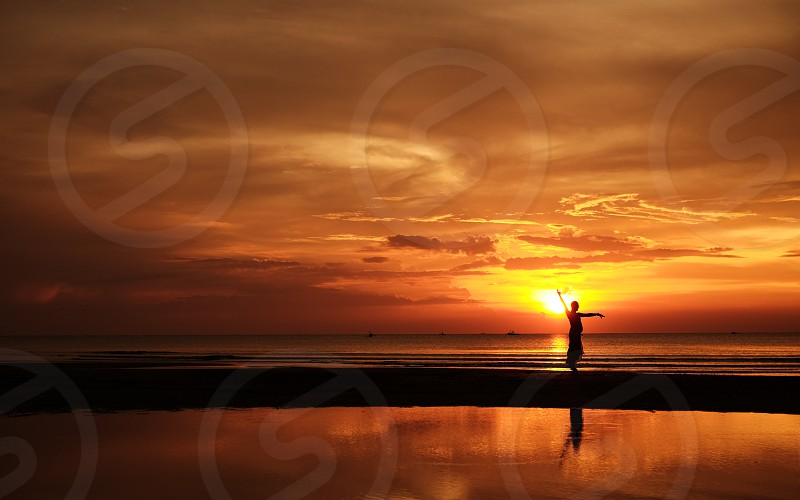 dancing on a sunset photo