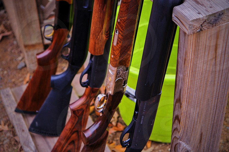 Guns shotguns gun rack shooting hunting shotgun photo