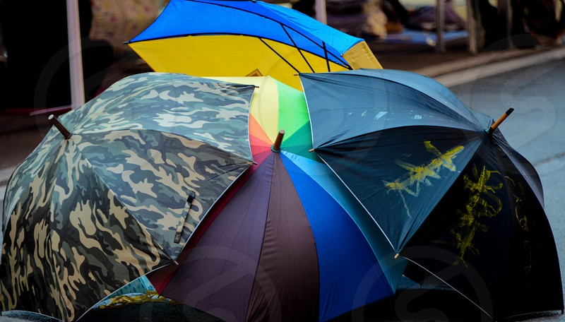 Symbol of the Umbrella Revolution in Hong Kong. photo